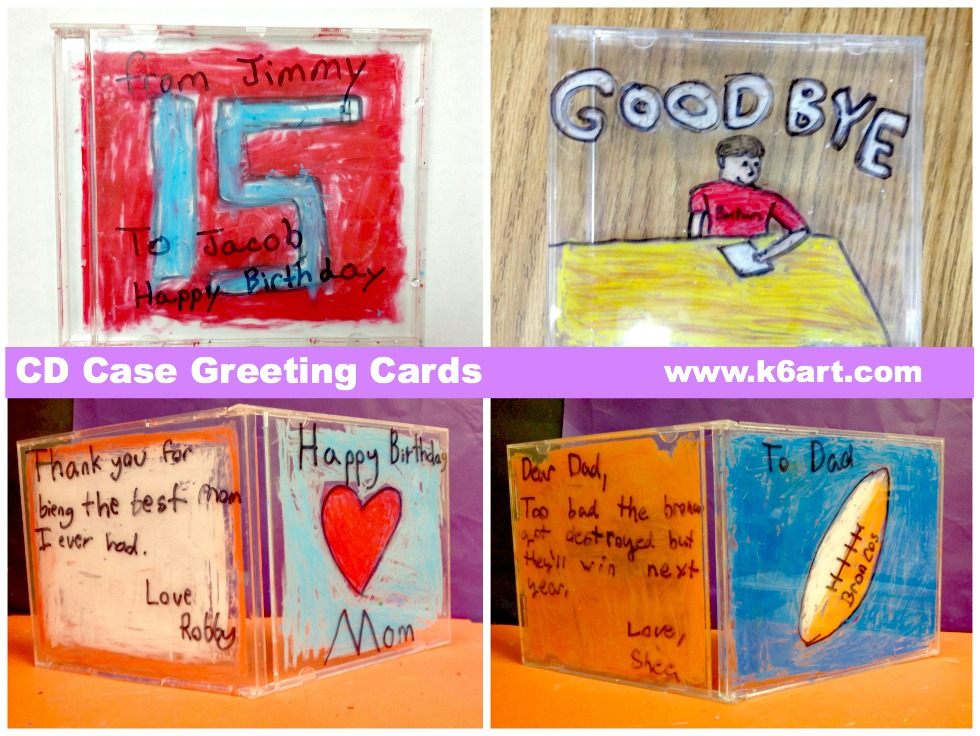 CD case greeting cards