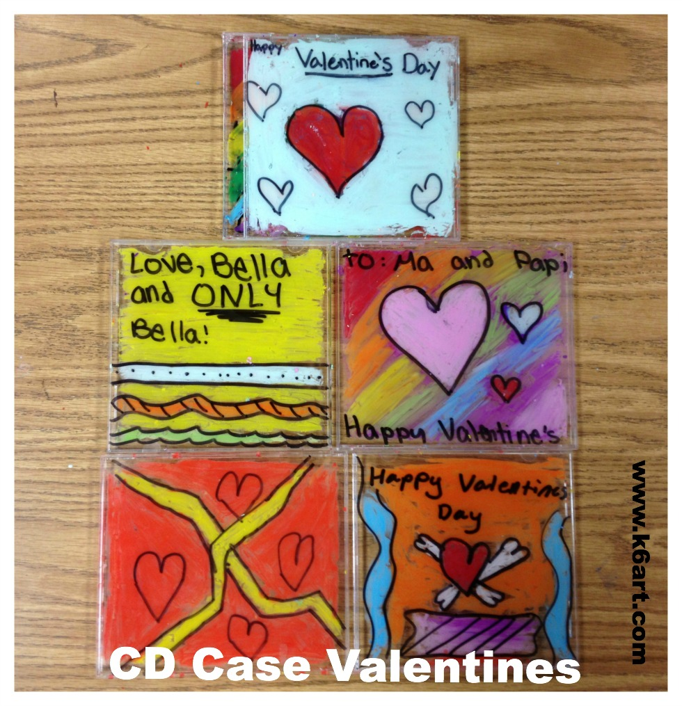 CD case valentines open