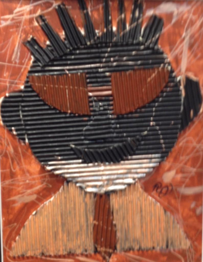 Elementary corrugated cardboard portrait.