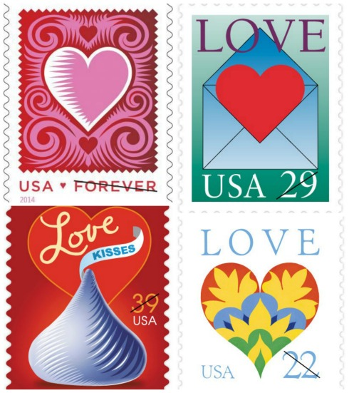 The U.S. Postal Service issues an annual Love Stamp. The program began in 1973.