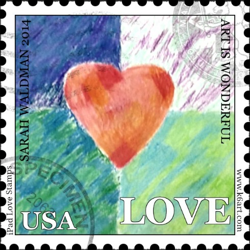 iPad Love Stamp