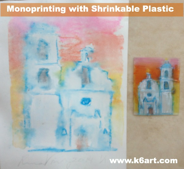 mono printing with shrinkable plastic pin