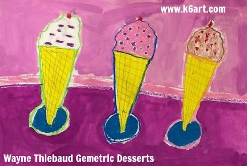 Wayne Thiebaud Geometric Desserts