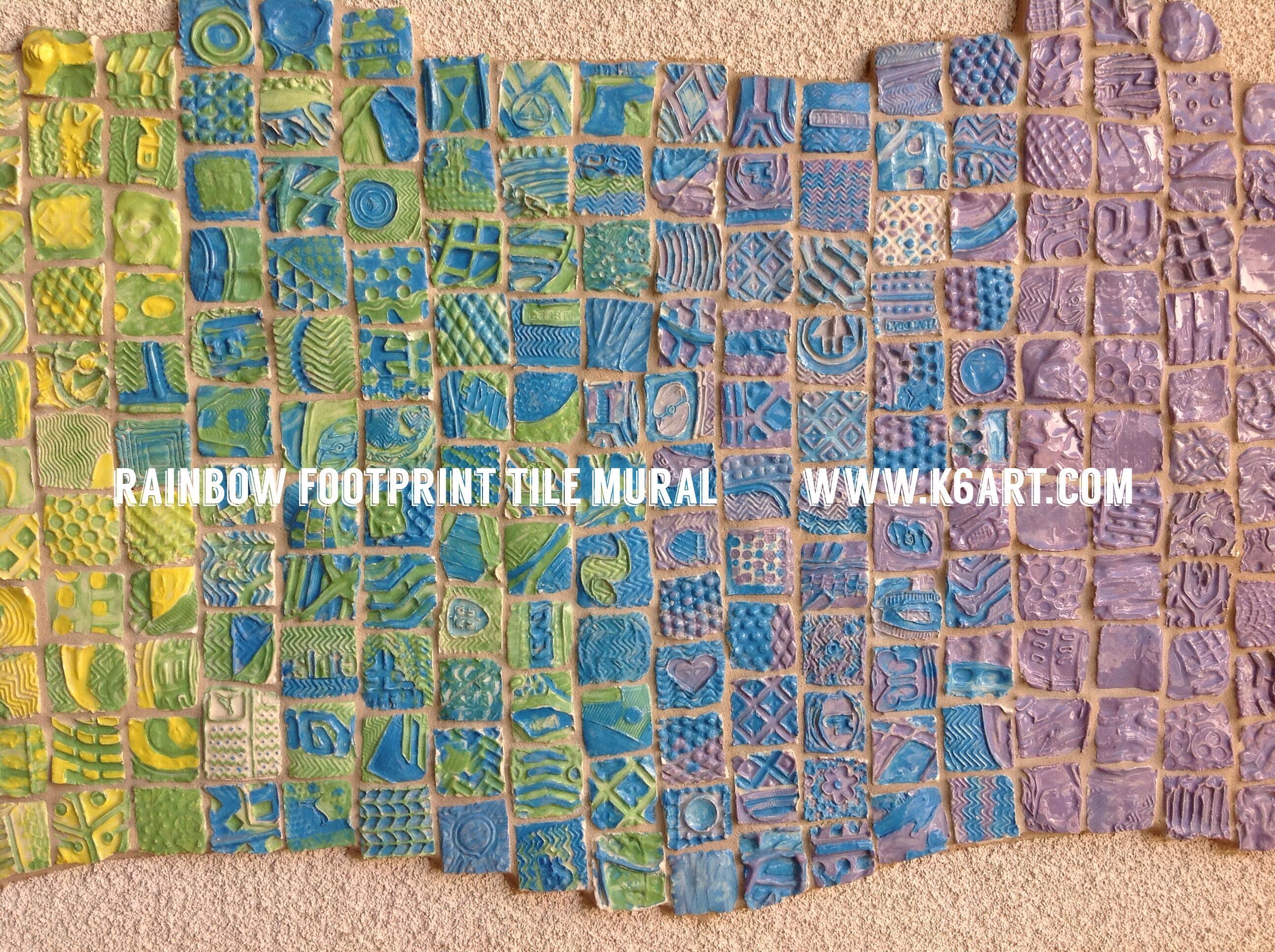2nd grade k 6 art k 6 art for Clay tile mural