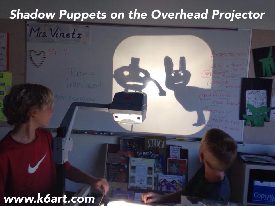 Shadow puppets on the overhead projector