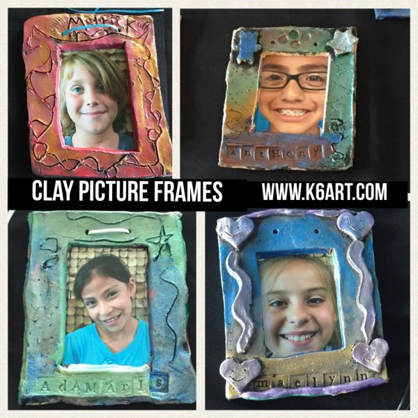 Painted and assembled Clay picture frames